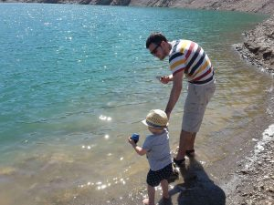 excursión con niños al pantà de Siurana